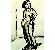 sculpture of female form Photographic Print