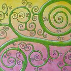 Happy Green Vine by Michelle Clifton