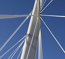 Abstract Bridge Lines, Winnipeg, Manitoba, Canada  by Carole-Anne