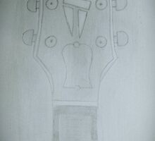 A Gibson Guitar Headstock by Halley Kay