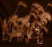 Glas und Grass.Still life by viktor kreker