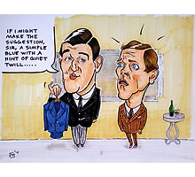 Jeeves and Wooster Photographic Print