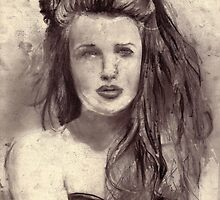 Craving (Belle) CharcoalOnPaper 29x22cm 2011 by MrMumford