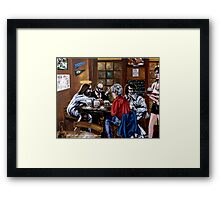 'Elvis & Jesus at the Sports Bar' Framed Print