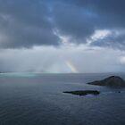 Hawaiian Rainbow and Clouds by Bixie
