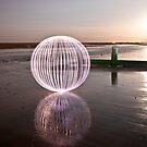 lilac orb - on the beach by Julian Marshall