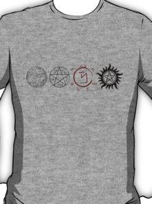 Supernatural Protection (Dark Symbols) T-Shirt