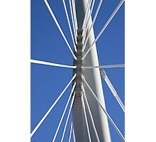 Abstract Bridge Lines #2, Winnipeg, Manitoba, Canada Photographic Print