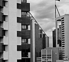 High Rise Geometrics in Black and White by TonyCrehan