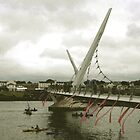 Derry Peace Bridge -  Derry Ireland by mikequigley