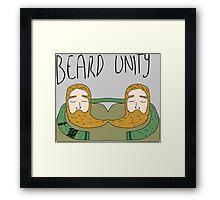 Bearded men unity Framed Print