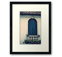 Villa Window Framed Print