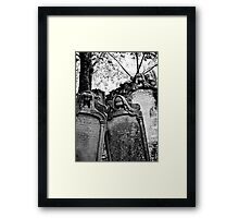 Leaning Graves Framed Print
