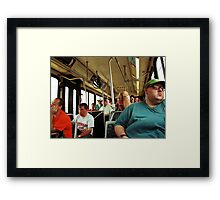 A Day On The Bus Framed Print