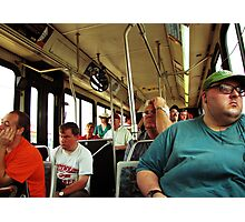 A Day On The Bus Photographic Print