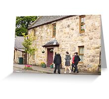 From School to Home for Lunch - Aberlour, Moray, Scotland Greeting Card