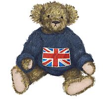 Teddy Bear with Union Jack by Amanda Latchmore