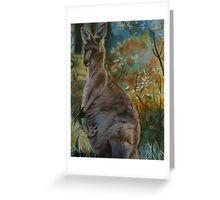 Kangaroos in the mist Greeting Card