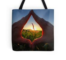 Handy Sunset Tote Bag