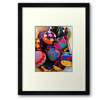 """Knitted Hackey-Sack Balls"" Framed Print"