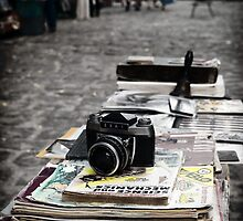 Old camera in market, Havana Cuba by Stephen Colquitt