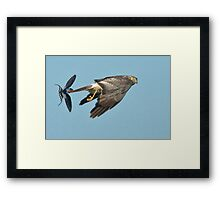 Don't Look Behind You! Framed Print