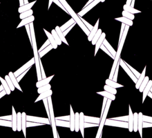 Barbwire Pentagram Sticker