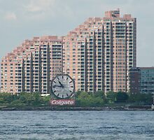 Classic Colgate Clock, Jersey City, Manhattan View by lenspiro