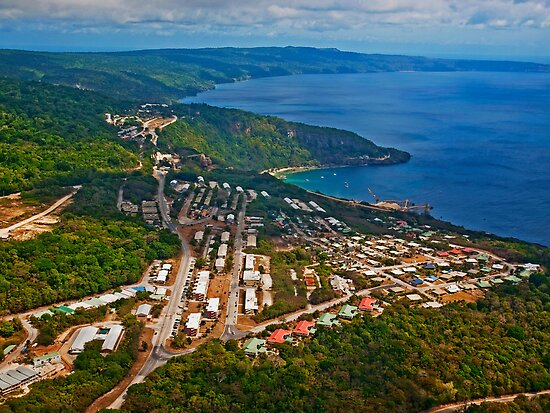 Aerial view of poon saan silver city drumsite for Flying fish cove christmas island