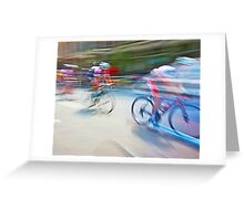 The Bicycle Race 01 Greeting Card