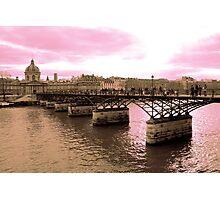 Parisian Mosaic - Piece 16 - Pink Sky Above The Ponts des Arts Photographic Print