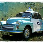 Morris Minor Police Car in Art by hootonles
