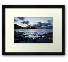 Fire in the Sky - Giants Causeway Northern Ireland Framed Print