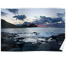 Fire in the Sky - Giants Causeway Northern Ireland Poster