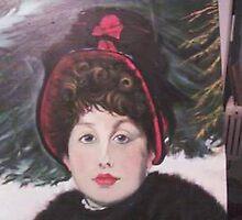 'Promenade en hiver' after James Tissot. by LadyPrimrose