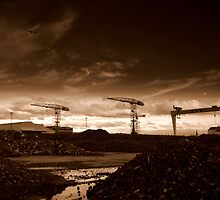 Titanic Quarter cranes, Belfast by Chris Millar