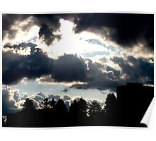Bellowing and billowing clouds Poster
