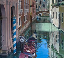 A splash of sunlight, Venice by Freda Surgenor