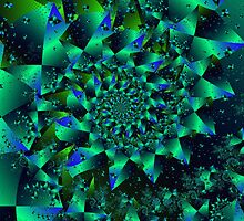 Iridescent Spiral by Mark Eggleston