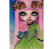 Pink haired Rose Photographic Print