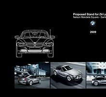 Proposed exhibition stand for introducing new BMW Z4 Launch by Joy45
