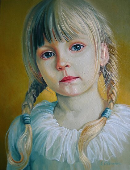 Portrait Art: Child by Elena Oleniuc