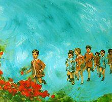 Childhood series - children play - In the kindergarten  by natalyborissov