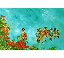 Childhood series - children play - In the kindergarten  Photographic Print