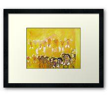 Childhood series - children singing - Kid's choir Framed Print