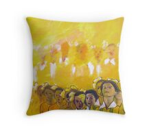 Childhood series - children singing - Kid's choir Throw Pillow