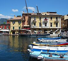 Little harbour of Malcesine by Arie Koene