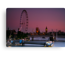 """London's Lights"" Canvas Print"