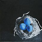Blue Bird Eggs by Hope A. Burger