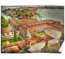 Venice. View from Church San Giorgio Maggiore Poster